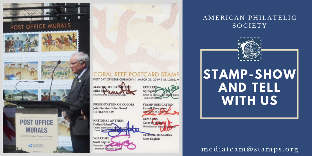"We're Telling Your Stories with our ""Stamp-Show and Tell"" Blog Series"