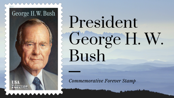 New Commemorative Stamp to Honor Former President George H. W. Bush