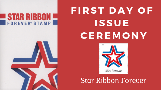 Photos and new details from the first day ceremony of Star Ribbon Forever stamp