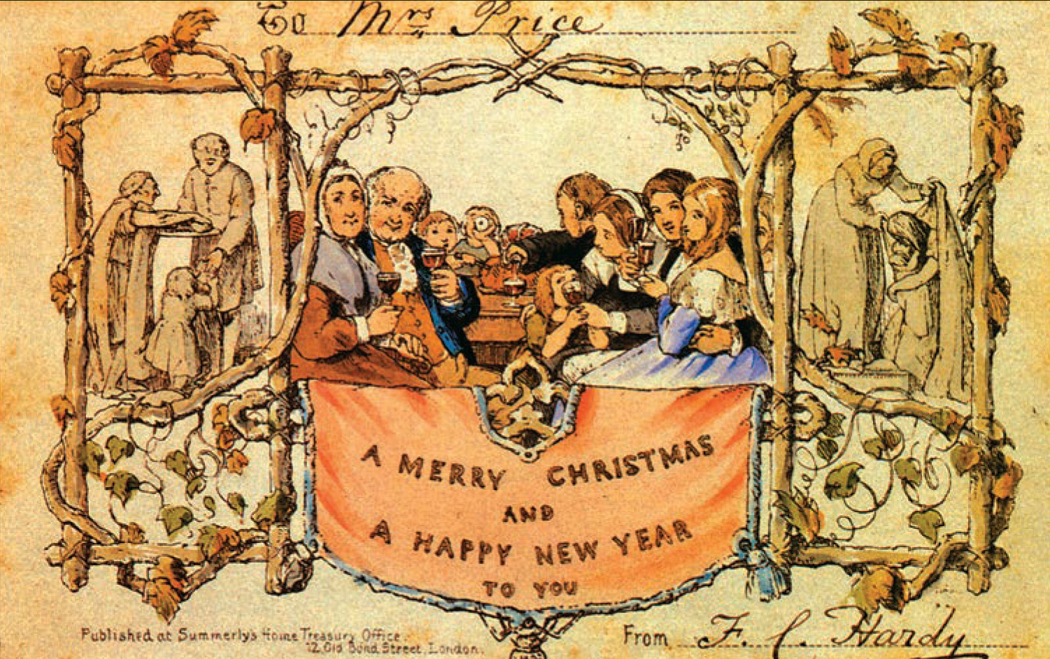 The First Christmas.From The Ap Archives The First Christmas Card