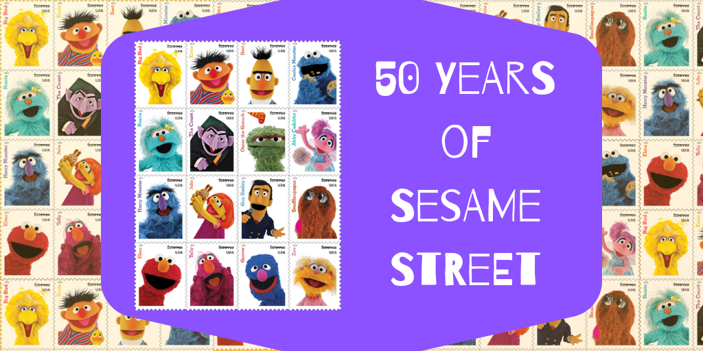 Celebrate 50 Years of Sesame Street with the U.S. Postal Service