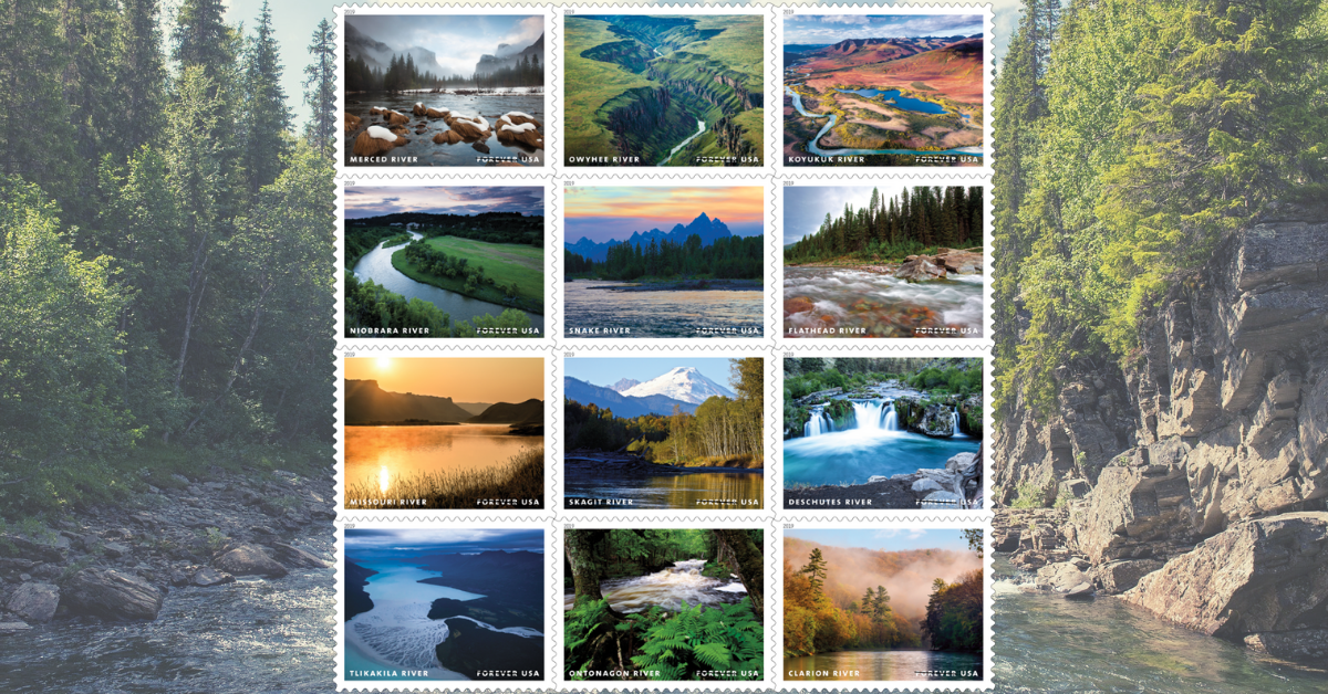 Upcoming US Postal Service Release: Wild and Scenic Rivers Forever Stamps