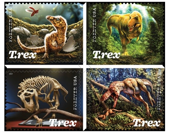 Dinosaurs come to life in new commemorative stamp release